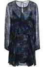IRO Ruffled printed georgette mini dress