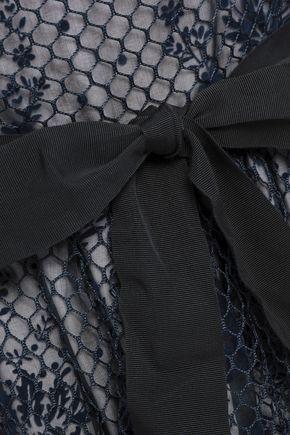 REDValentino Flocked mesh and organza mini dress