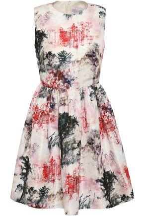 REDValentino Flared printed faille mini dress