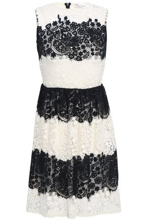 REDValentino Two-tone lace mini dress