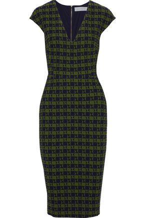 VICTORIA BECKHAM Checked cloqué-jacquard dress