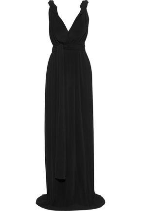 VICTORIA BECKHAM Twisted plissé-georgette gown