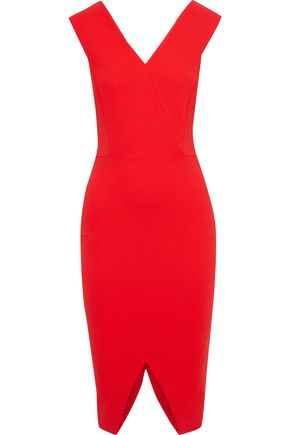 VICTORIA BECKHAM Split-front crepe dress