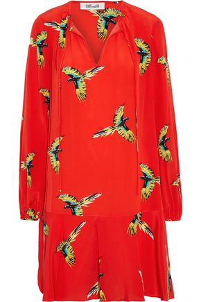DIANE VON FURSTENBERG Printed silk crepe de chine dress
