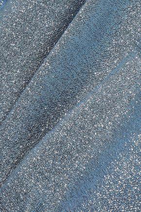STELLA McCARTNEY Padma tie-front pleated lamé jumpsuit