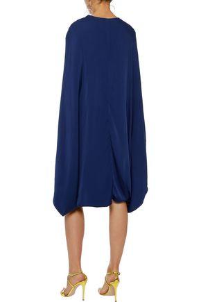 STELLA McCARTNEY Anderson cape-effect crepe de chine dress
