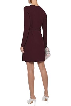 DIANE VON FURSTENBERG Stretch-knit mini wrap dress