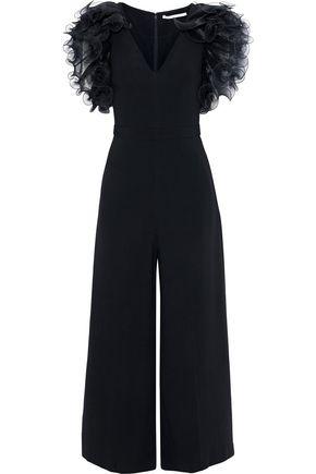 STELLA McCARTNEY Ruffled plissé-organza and crepe jumpsuit