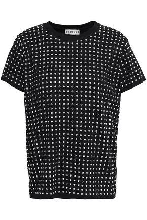 FIORUCCI Crystal-studded cotton-jersey T-shirt