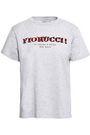 FIORUCCI Printed mélange cotton-jersey T-shirt