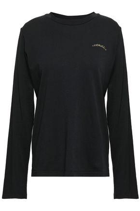 FIORUCCI Printed cotton-jersey top