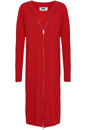 MM6 MAISON MARGIELA Zip-detailed stretch-jersey dress