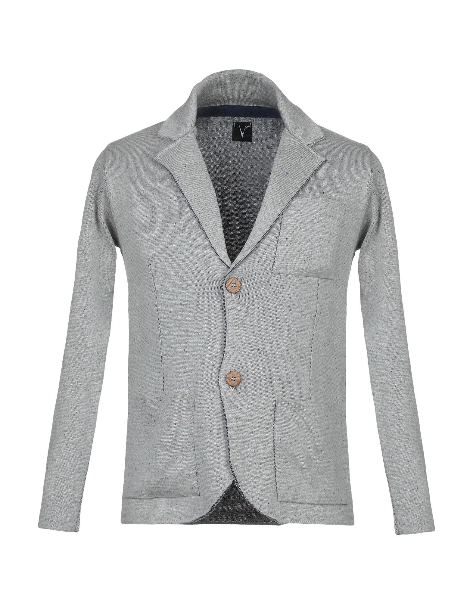 《セール開催中》V2? LIVING CLOTHING メンズ テーラードジャケット ライトグレー M アクリル 50% / コットン 50%