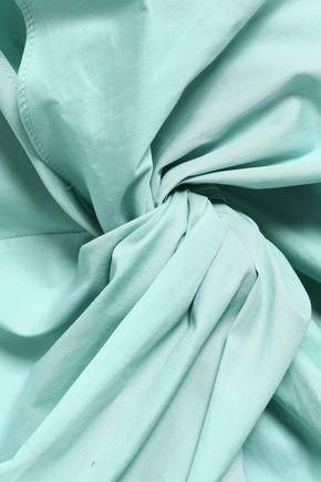 ROKSANDA Bow-embellished cotton-poplin mini dress