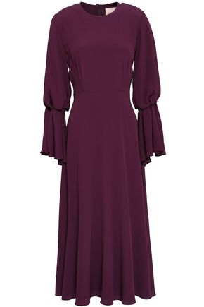 ROKSANDA Fluted crepe midi dress