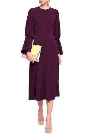 ROKSANDA Fluted crepe midi dress