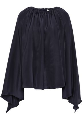 ROKSANDA Gathered silk-satin blouse