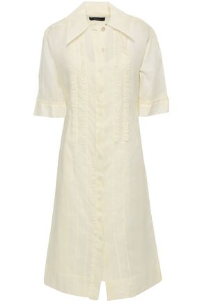 JOSEPH Molly ruffle-trimmed cotton-organza midi shirt dress
