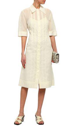 JOSEPH Molly ruffle-trimmed cotton-organza midi shirt dress