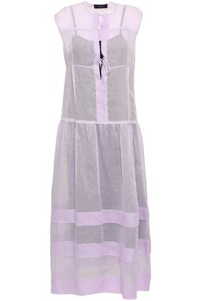 JOSEPH Curtis tiered cotton-organza midi dress