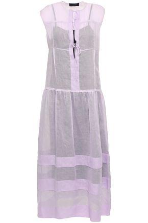 JOSEPH Curtis tiered cotton-organza midi dress