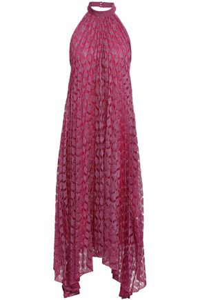 MISSONI Crochet-knit maxi halter neck dress