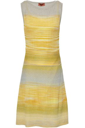 MISSONI Flared striped knitted dress