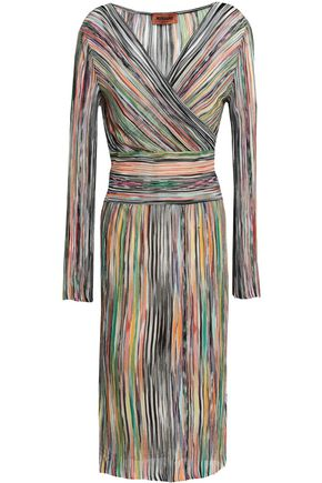da696b1d397fe Wrap-effect knitted midi dress | MISSONI | Sale up to 70% off | THE ...