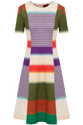 MISSONI Flared crochet-knit dress