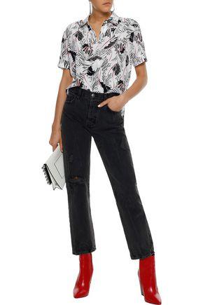 EQUIPMENT Paulette printed washed-silk shirt