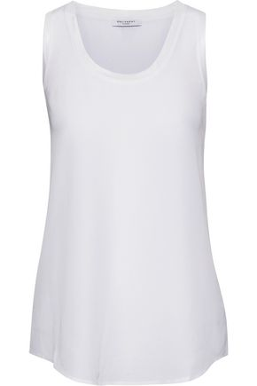 EQUIPMENT Mel knit-trimmed washed-silk tank