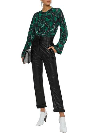 EQUIPMENT Heather printed washed-silk blouse