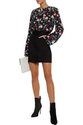 EQUIPMENT Heather floral-print washed-silk blouse