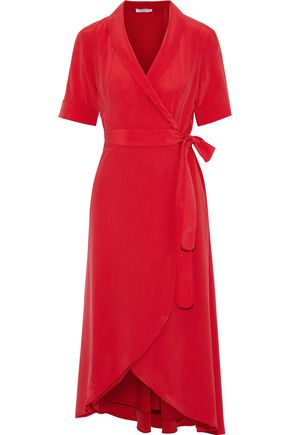 EQUIPMENT Imogene washed-silk midi wrap dress