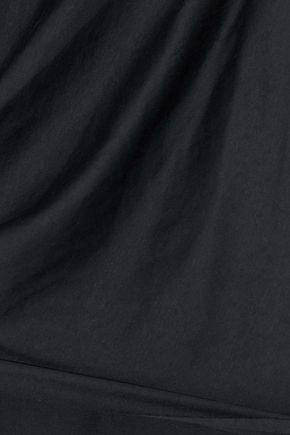 IRIS & INK Lydia draped pleated cotton top