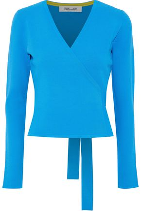 DIANE VON FURSTENBERG Knitted wrap top