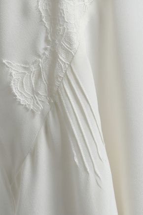 IRO Lace-trimmed silk crepe de chine camisole