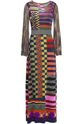 MISSONI Checked knitted maxi dress