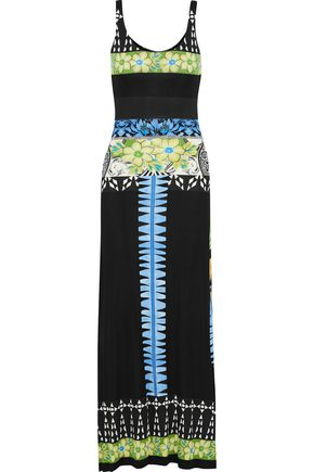 ETRO Printed stretch-crepe maxi dress