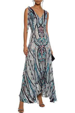 a49648d38b0 ETRO Bead-embellished printed devoré-chiffon maxi dress