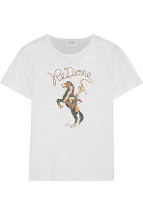 RE/DONE Printed slub cotton-jersey T-shirt