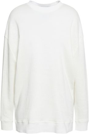 IRO Aloba French linen and cotton-blend terry sweatshirt