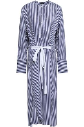 JOSEPH Nick striped cotton-poplin midi shirt dress