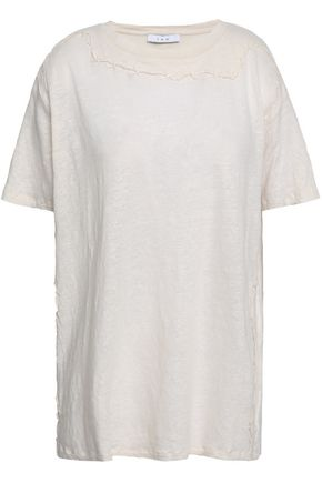 IRO Masso embroidered slub linen-jersey T-shirt