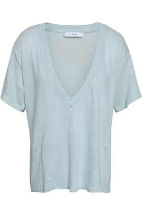 IRO Jahal slub linen-jersey T-shirt