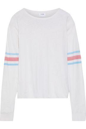 RE/DONE Printed slub cotton-jersey top