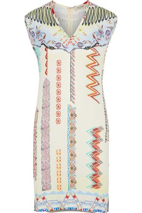 ETRO Printed crepe de chine mini dress