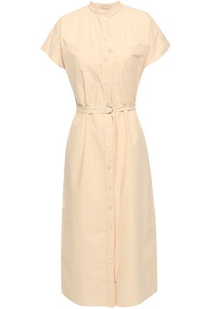 JOSEPH Cotton-poplin midi shirt dress