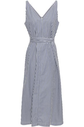 JOSEPH Davey striped cotton-poplin midi dress