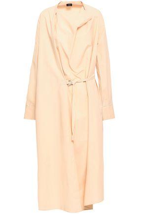 JOSEPH Wrap-effect draped cotton-poplin midi dress